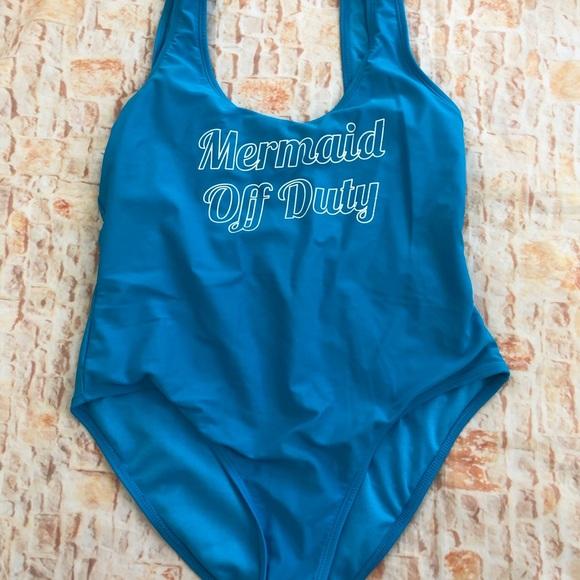 "Other - One piece ""mermaid off duty""swimsuit Sz XL"
